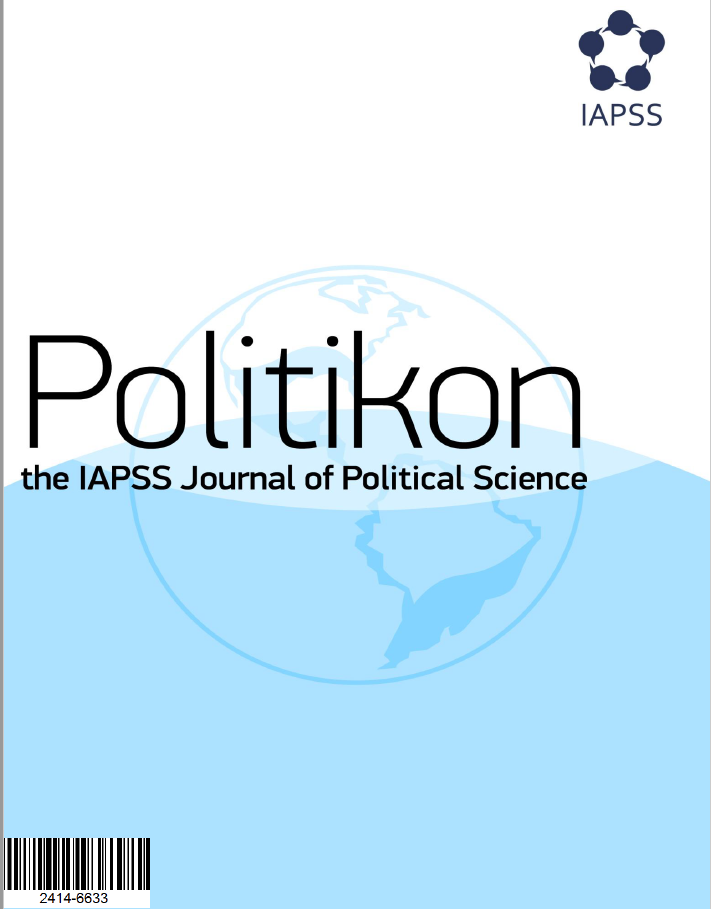 View Vol. 32 (2017): Special IAPSS Student Research Committees Issue